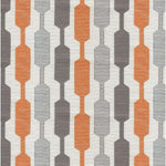 Carica l'immagine nel visualizzatore di Gallery, McAlister Textiles Lotta Burnt Orange + Grey Curtains Tailored Curtains