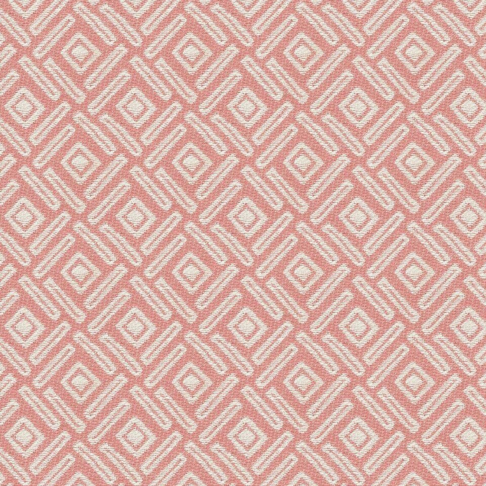 McAlister Textiles Elva Geometric Blush Pink Curtains Tailored Curtains