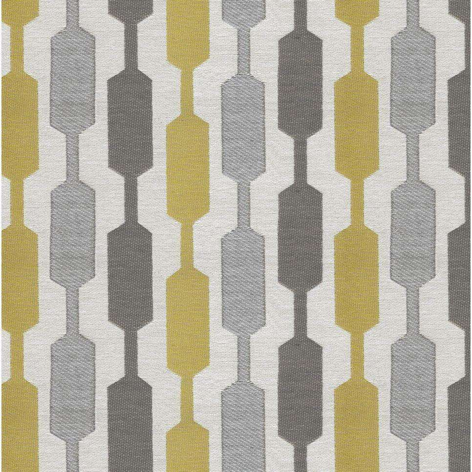McAlister Textiles Lotta Yellow + Grey Curtains Tailored Curtains