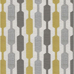 Cargar imagen en el visor de la galería, McAlister Textiles Lotta Yellow + Grey Curtains Tailored Curtains