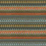 Load image into Gallery viewer, McAlister Textiles Curitiba Aztec Orange + Teal Roman Blind Roman Blinds
