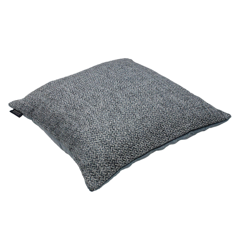 McAlister Textiles Harris Tweed Cushion - Blue & Grey Cushions and Covers