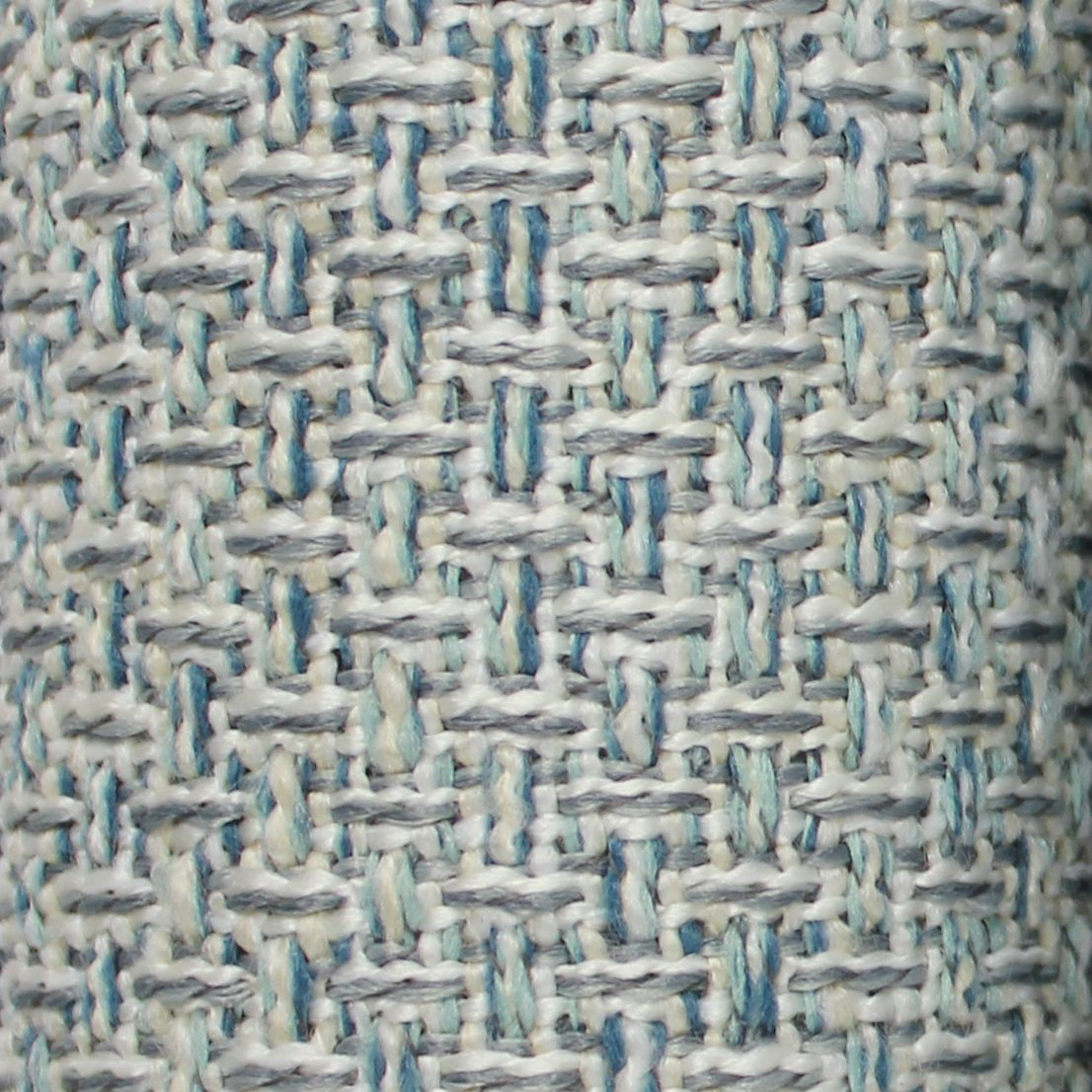 McAlister Textiles Skye Tweed and Velvet Insert Edge Cushion - Teal Cushions and Covers