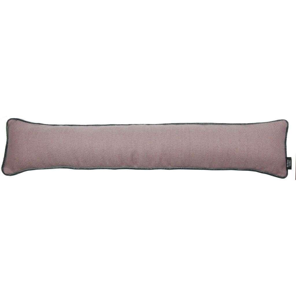 McAlister Textiles Herringbone Boutique Purple + Grey Draught Excluder Draught Excluders