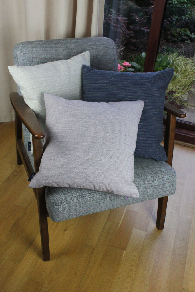 McAlister Textiles Hamleton Lilac Purple Textured Plain Cushion Cushions and Covers