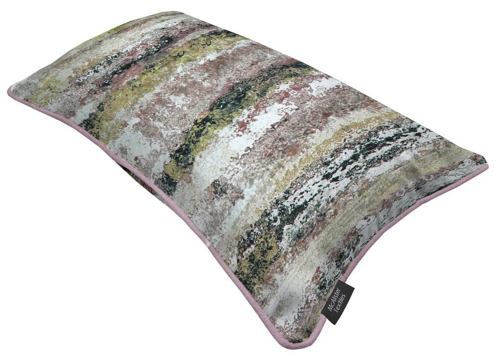 McAlister Textiles Aura Blush Pink Printed Velvet Cushions Cushions and Covers