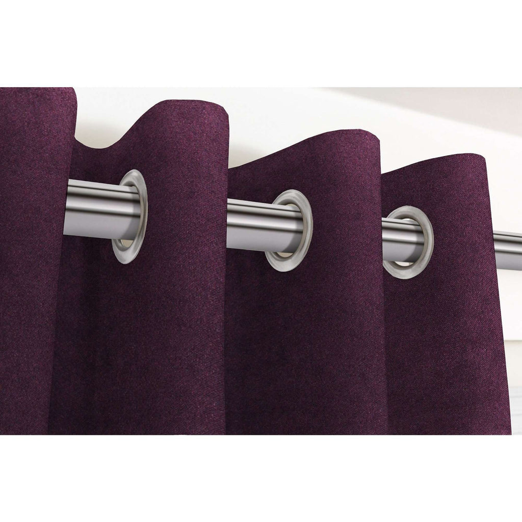 "McAlister Textiles Matt Aubergine Purple Velvet Curtains Tailored Curtains 116cm(w) x 182cm(d) (46"" x 72"")"