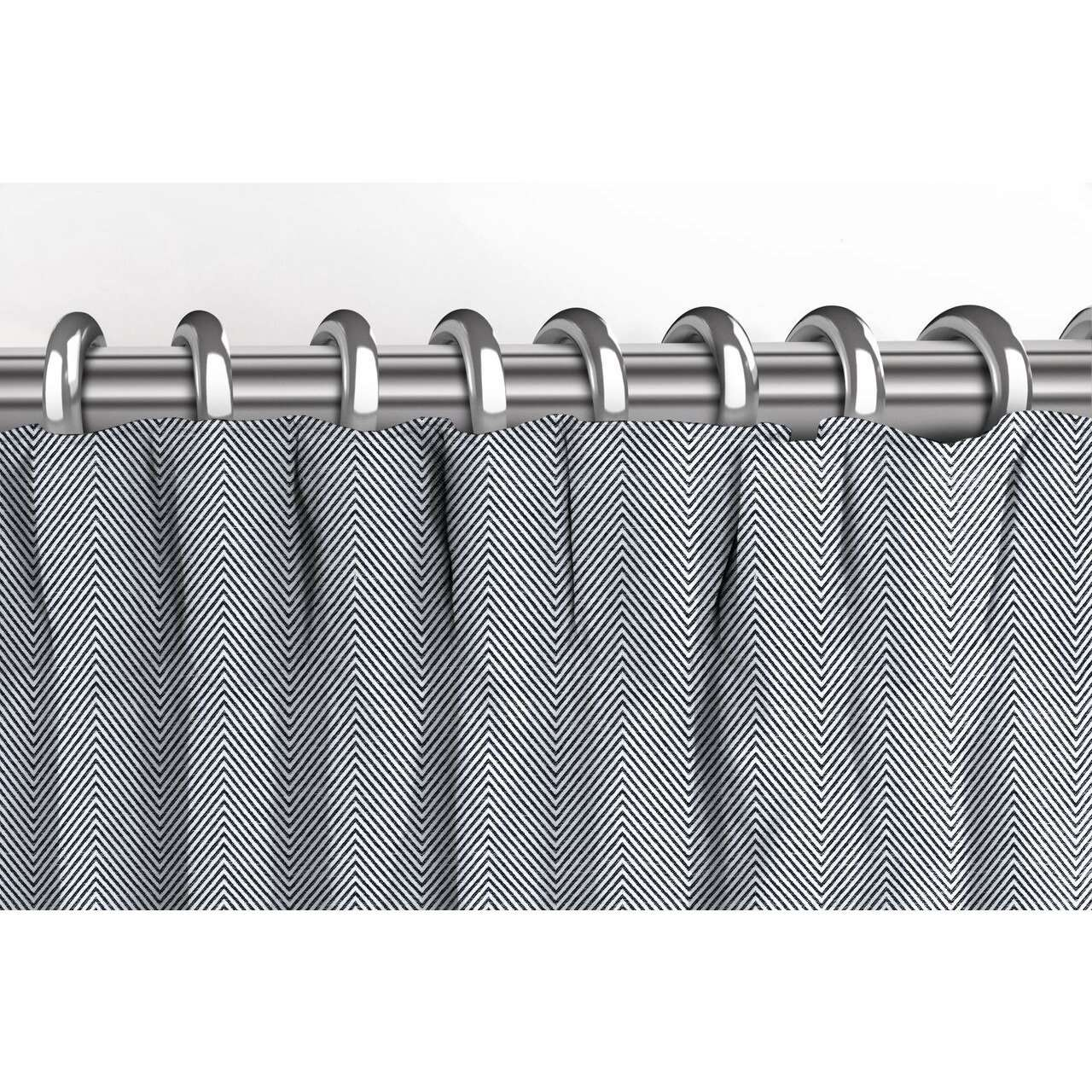 McAlister Textiles Herringbone Twill Black + White Curtains Tailored Curtains