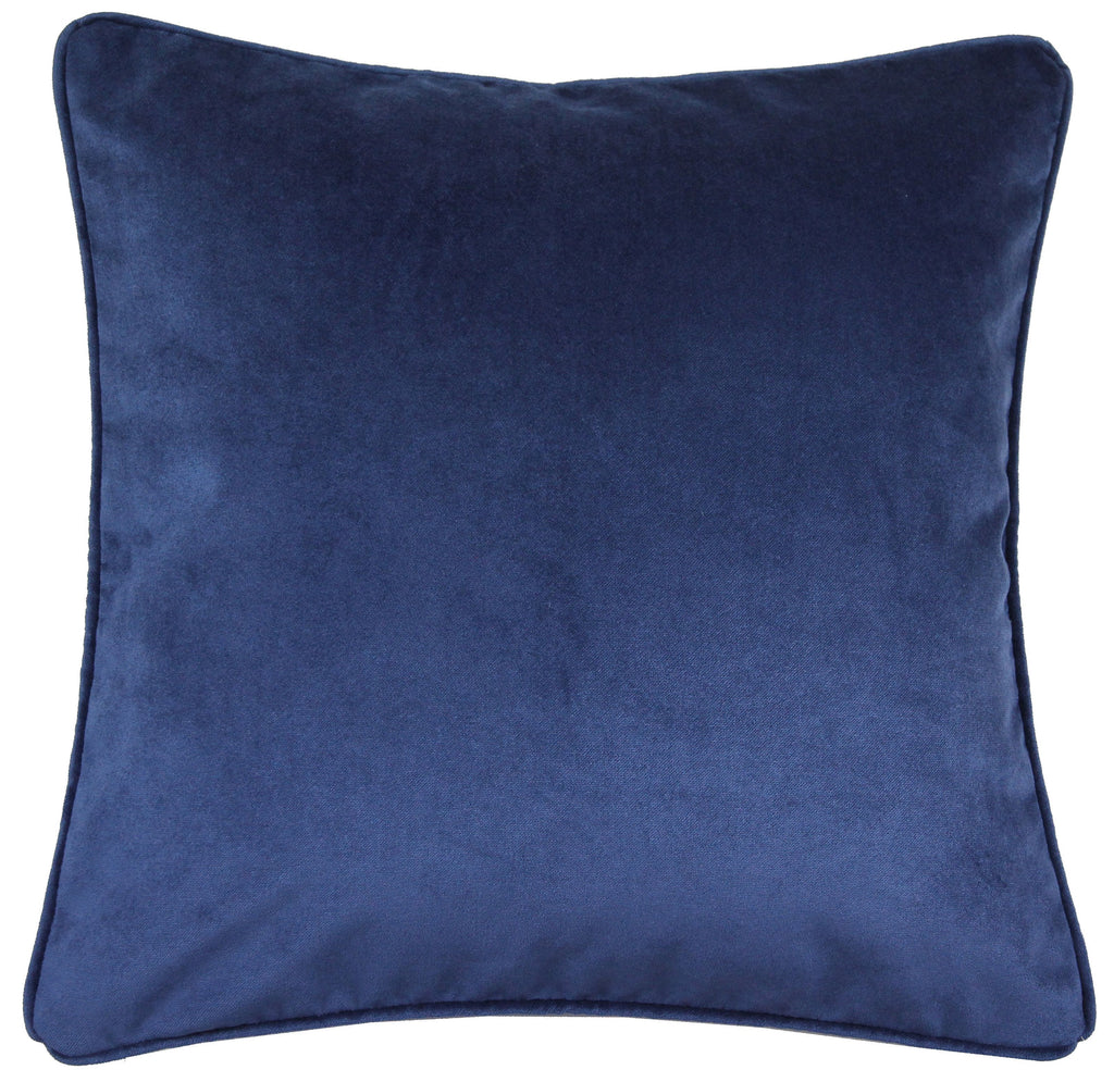 McAlister Textiles Renaissance Navy Blue Printed Velvet Cushions Cushions and Covers