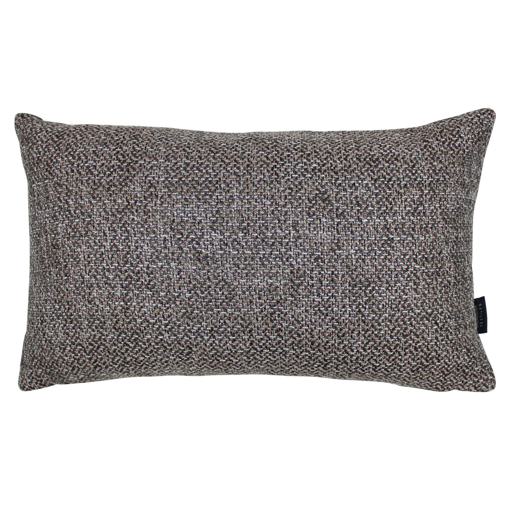 McAlister Textiles Lewis Tweed Pillow Grey Heather and Pink Pillow Cover Only 50cm x 30cm