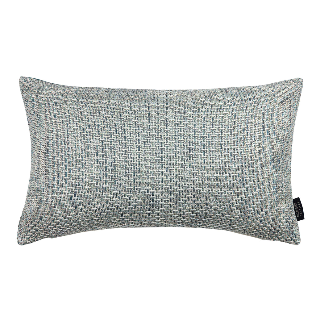 McAlister Textiles Skye Tweed Cushion - Teal Cushions and Covers Cover Only 50cm x 30cm