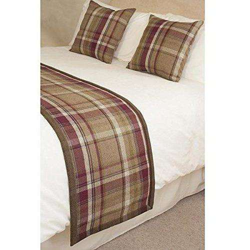 McAlister Textiles Heritage Purple + Green Tartan Home Decor Design Set