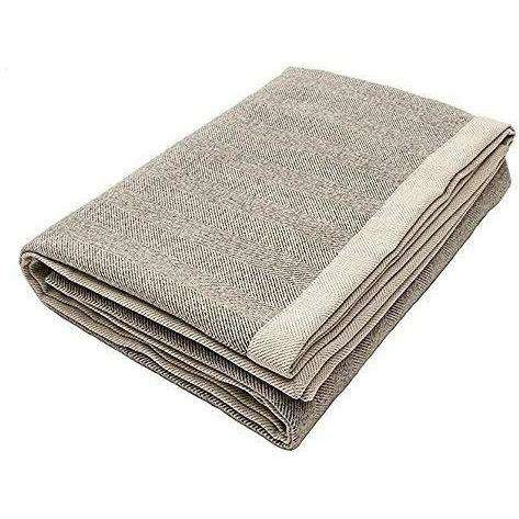 McAlister Textiles Herringbone Charcoal Grey Throw Blanket Throws and Runners