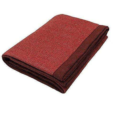 McAlister Textiles Herringbone Red Throw Blanket Throws and Runners
