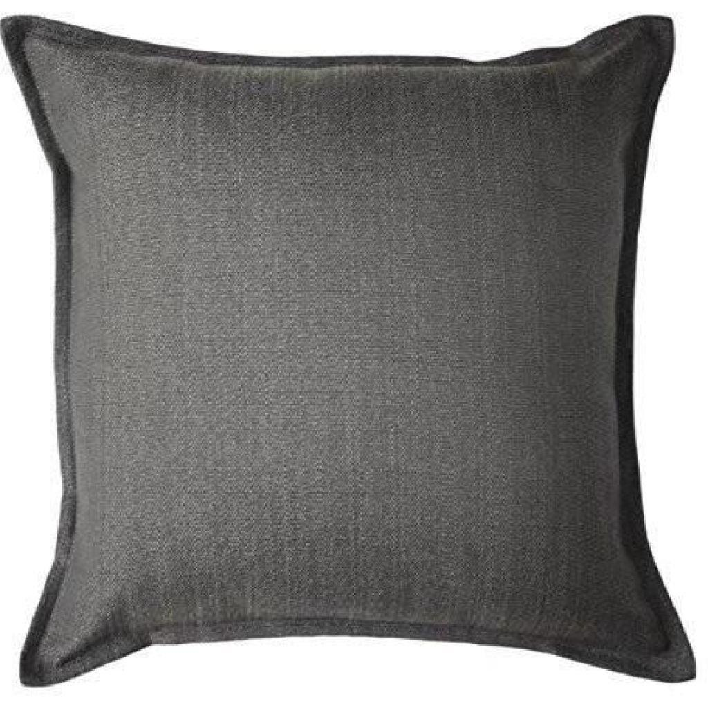 McAlister Textiles Savannah Charcoal Grey Pillow Pillow Cover Only 43cm x 43cm