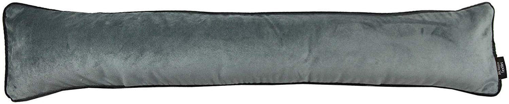 McAlister Textiles Matt Soft Silver Velvet Draught Excluder Draught Excluders