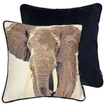Load image into Gallery viewer, McAlister Textiles Tapestry Grey Elephant Cushion Cushions and Covers