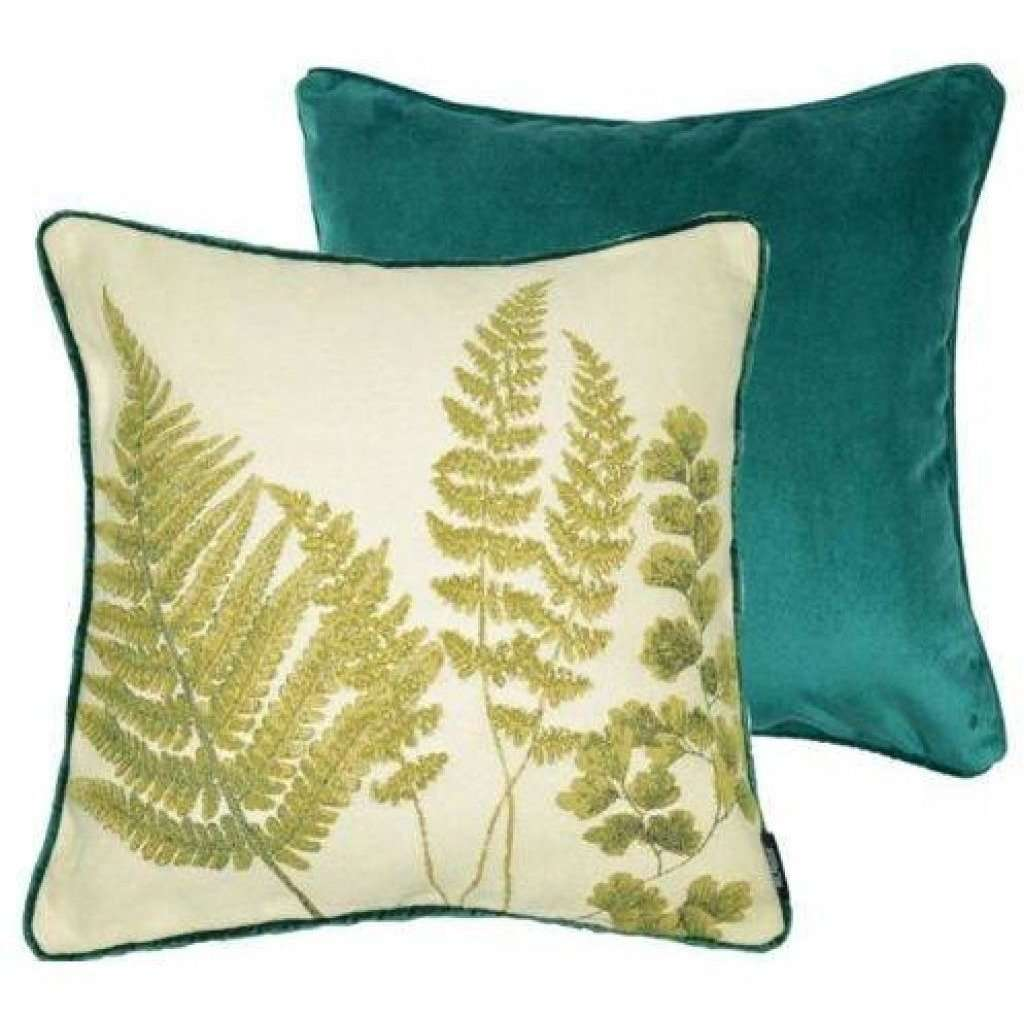 McAlister Textiles Tapestry Mixed Fern Green Cushion Cushions and Covers