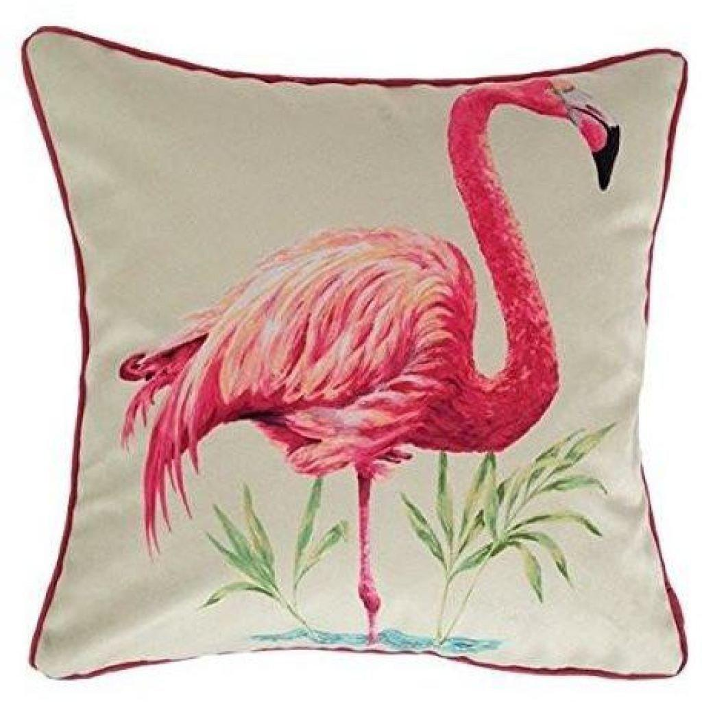 McAlister Textiles Novelty Pink Flamingo Velvet Cushion Cushions and Covers Polyester Filler