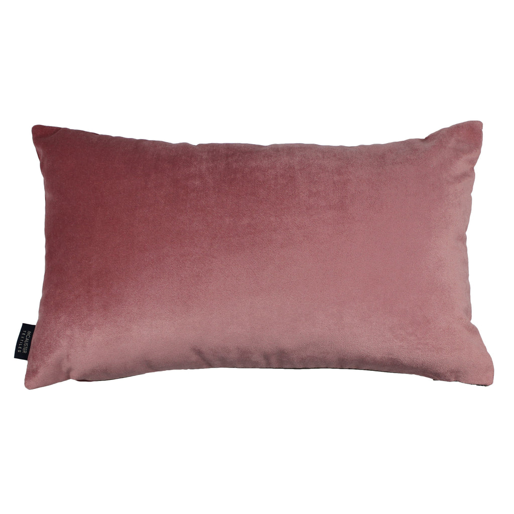 McAlister Textiles Lewis Tweed Cushion Grey Heather and Pink Cushions and Covers