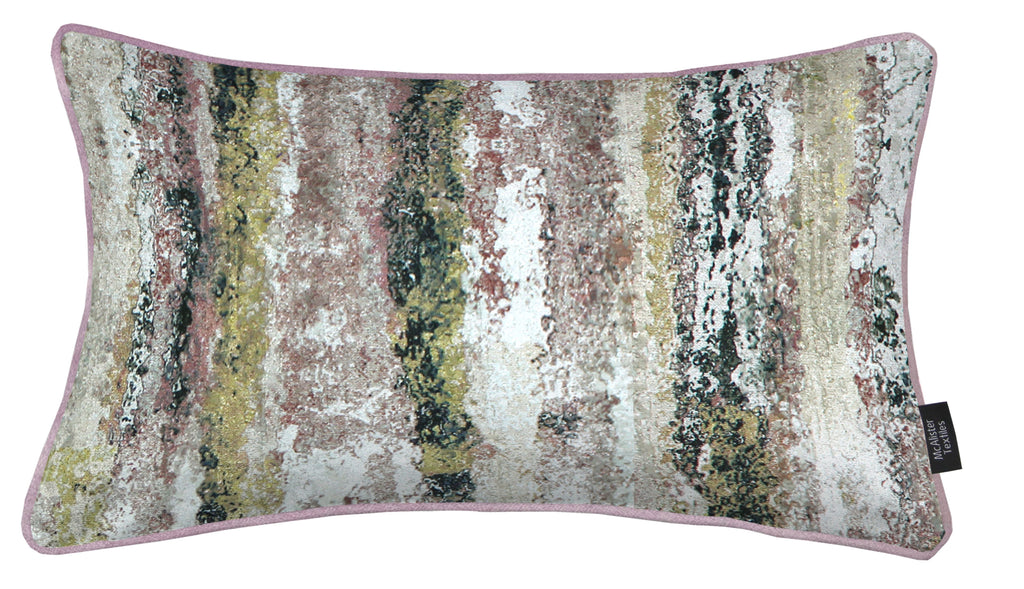 McAlister Textiles Aura Blush Pink Printed Velvet Cushions Cushions and Covers Cover Only 50cm x 30cm