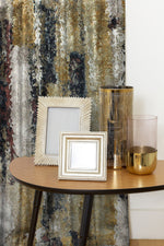 Charger l'image dans la galerie, McAlister Textiles Aura Ochre Printed Velvet Curtains Tailored Curtains