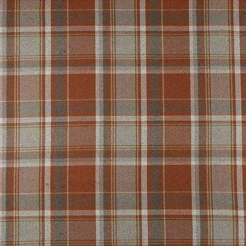 McAlister Textiles Deluxe Large Tartan Burnt Orange + Grey Box Cushion Box Cushions