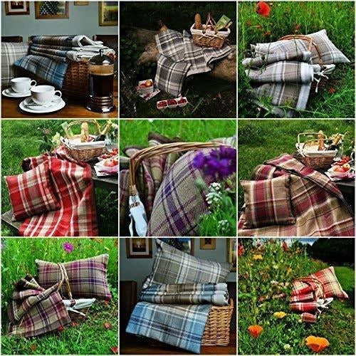 McAlister Textiles Heritage Duck Egg Blue Tartan 43cm x 43cm Cushion Sets Cushions and Covers