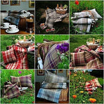 Load image into Gallery viewer, McAlister Textiles Heritage Duck Egg Blue Tartan 43cm x 43cm Cushion Sets Cushions and Covers