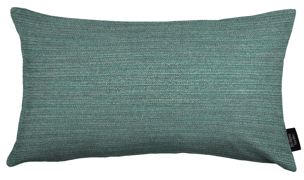 McAlister Textiles Hamleton Teal Textured Plain Cushion Cushions and Covers Cover Only 50cm x 30cm