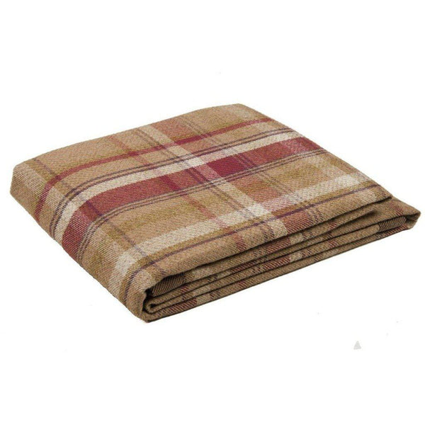McAlister Textiles Heritage Tartan Check Purple + Green Throw Throws and Runners Regular (130cm x 200cm)