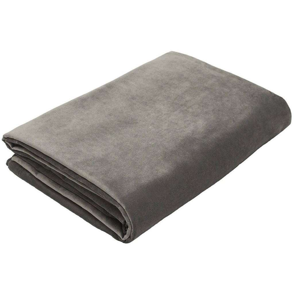 McAlister Textiles Matt Charcoal Grey Velvet Throw Blanket Throws and Runners Bed Runner (50cm x 240cm)