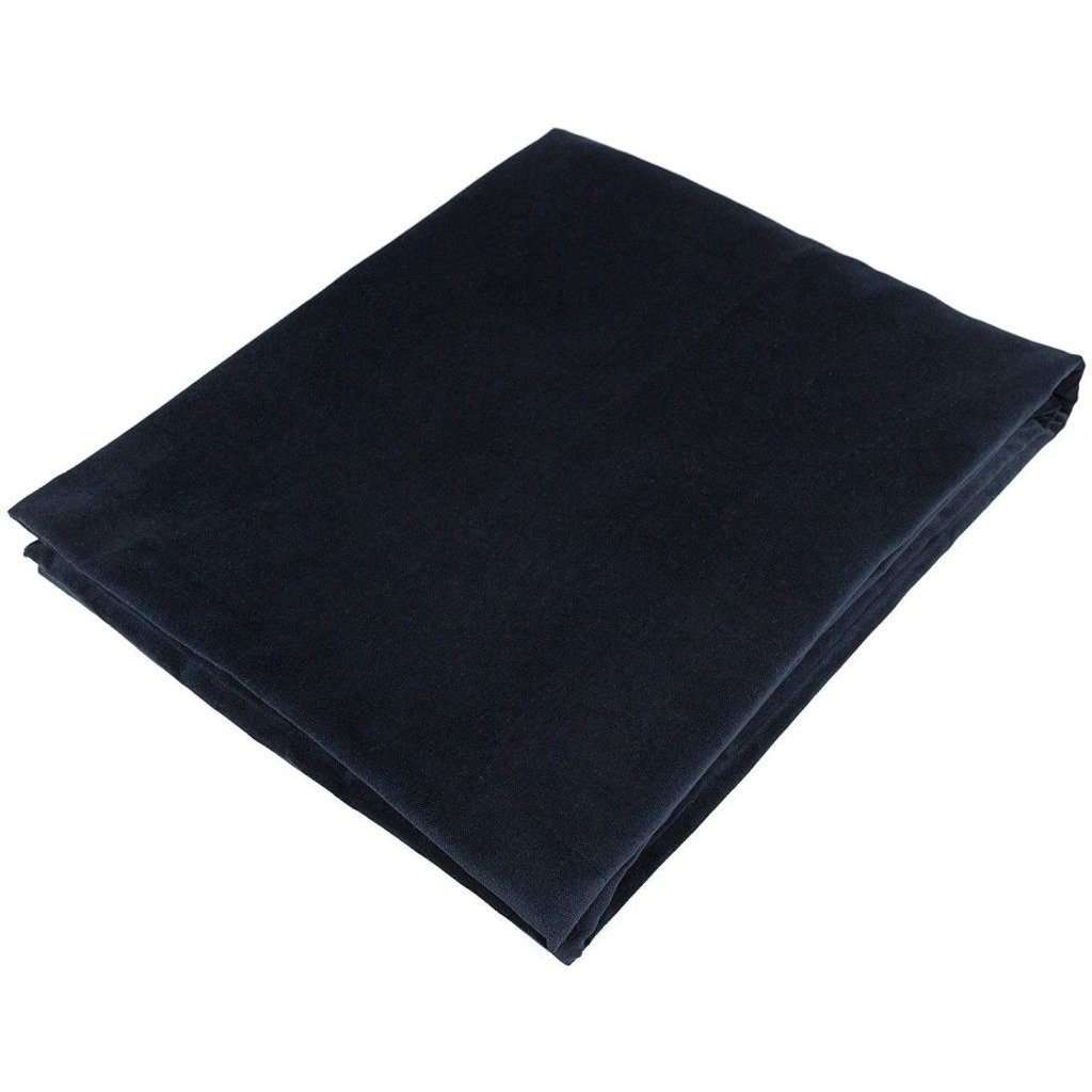 McAlister Textiles Matt Black Velvet Throw Blanket Throws and Runners