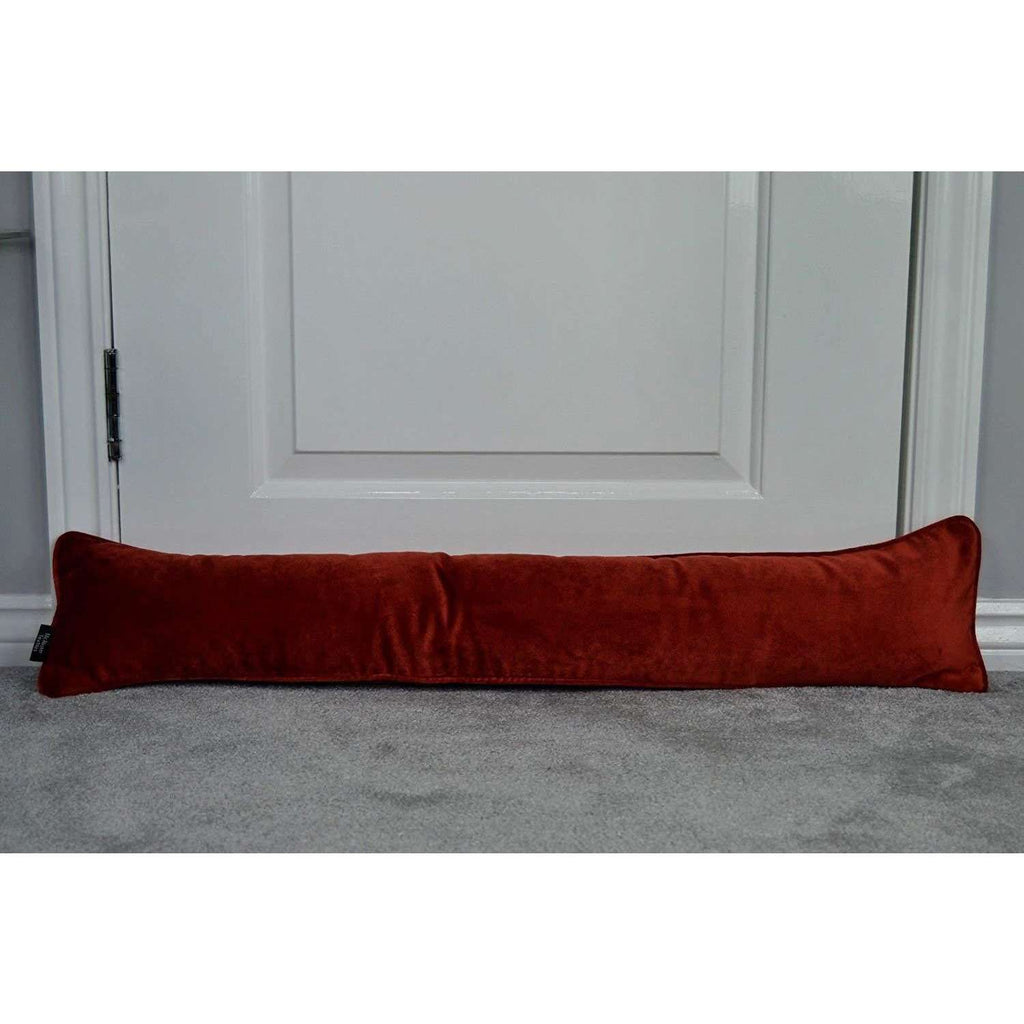 McAlister Textiles Matt Rust Red Orange Velvet Draught Excluder Draught Excluders
