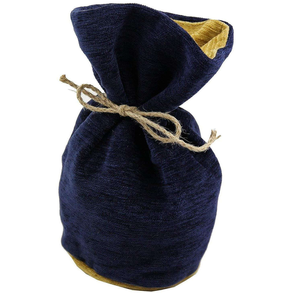McAlister Textiles Alston Chenille Navy Blue + Yellow Door Stop Doorstops