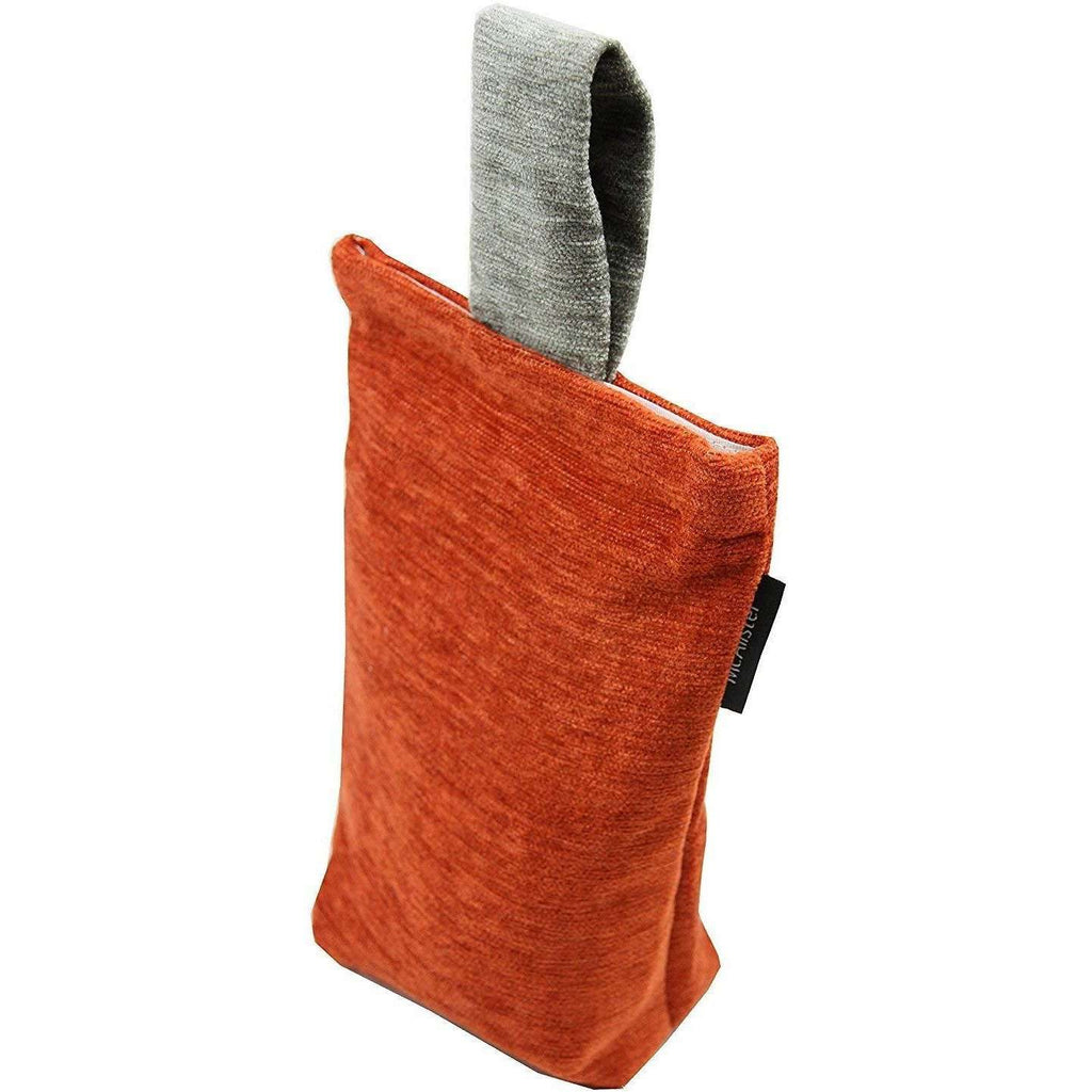 McAlister Textiles Alston Chenille Burnt Orange + Grey Door Stop Doorstops