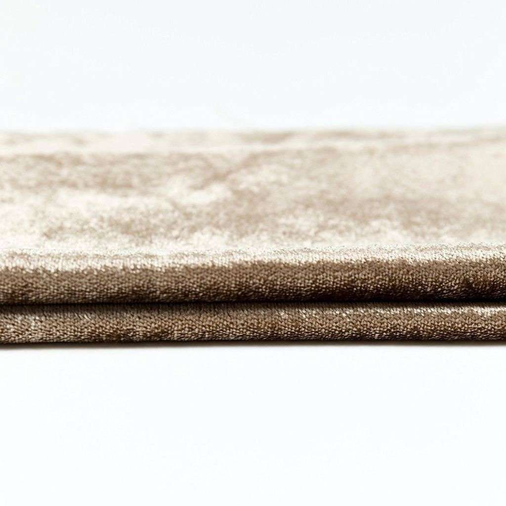 McAlister Textiles Beige Mink Crushed Velvet Throw Throws and Runners