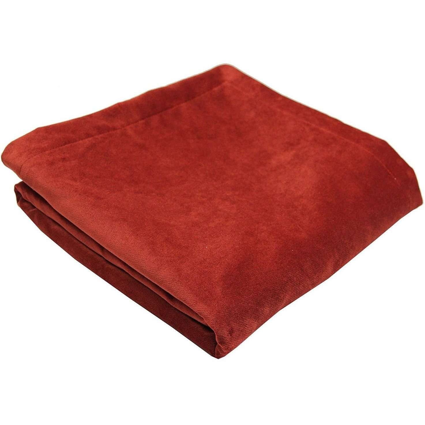 McAlister Textiles Matt Rust Red Orange Velvet Throw Blankets & Runners Throws and Runners Regular (130cm x 200cm)