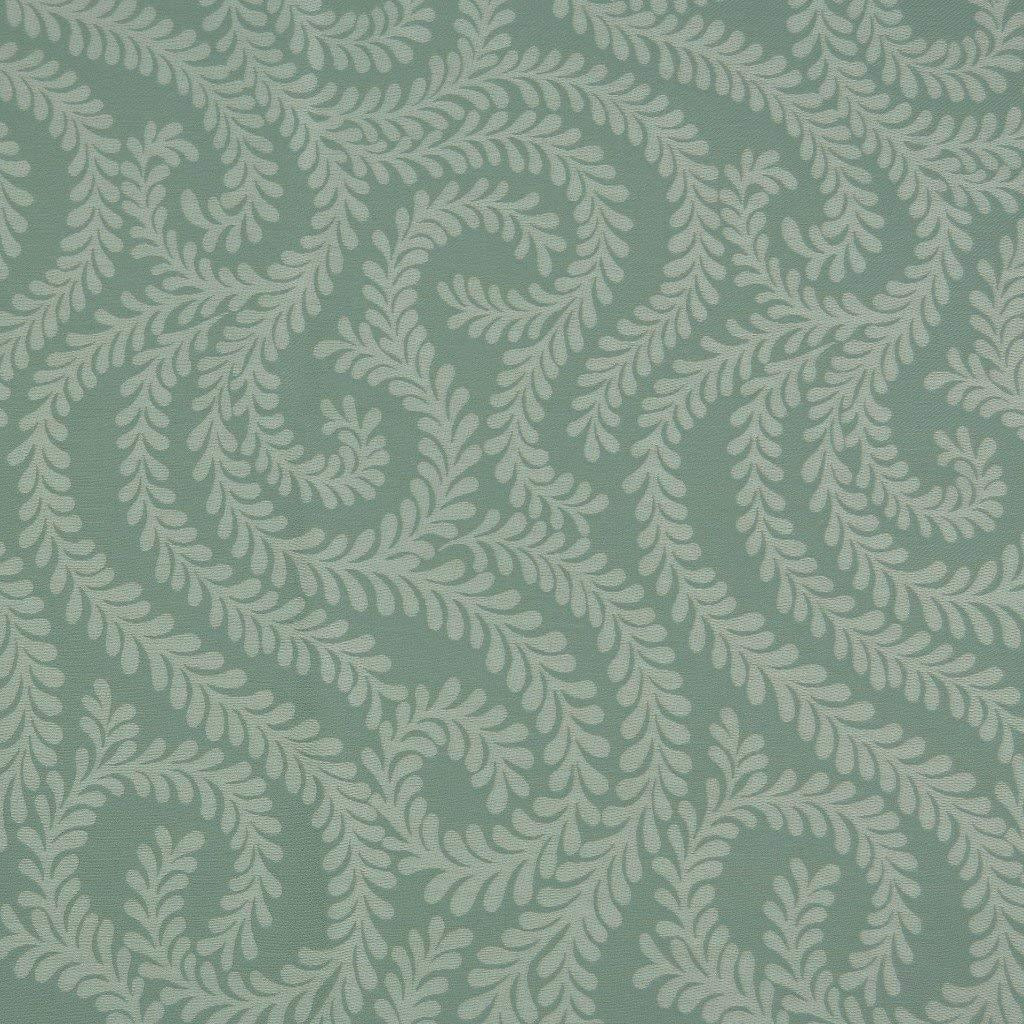 McAlister Textiles Little Leaf Duck Egg Blue Throw Throws and Runners