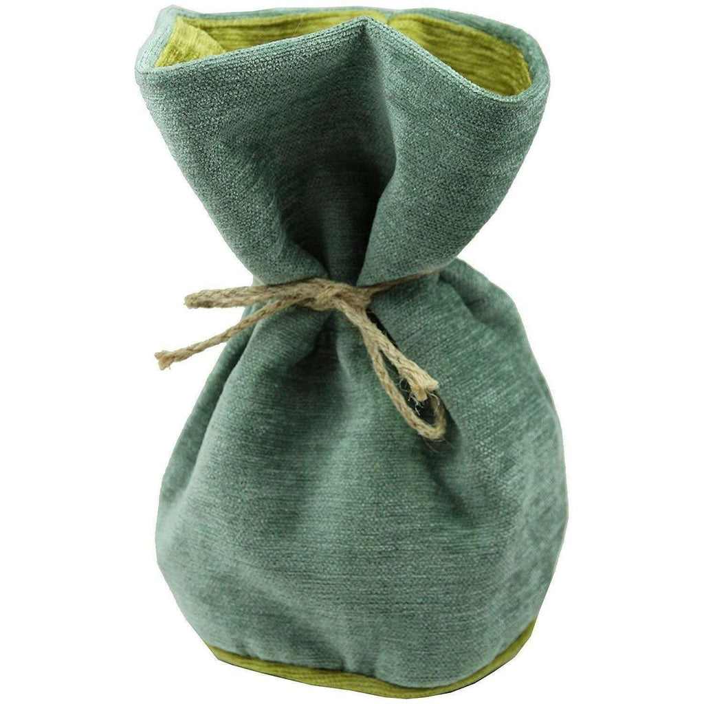McAlister Textiles Alston Chenille Duck Egg Blue + Green Door Stop Doorstops