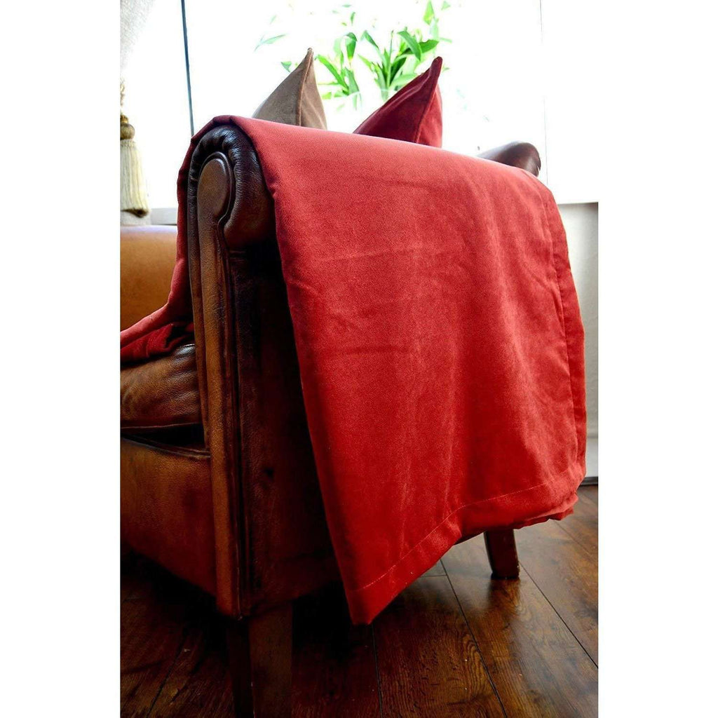 McAlister Textiles Matt Rust Red Orange Velvet Fabric Fabrics