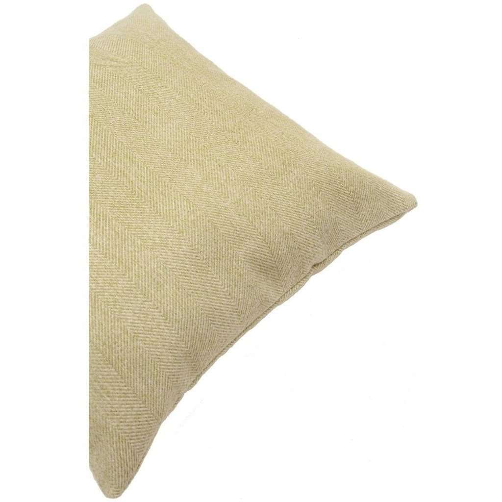 McAlister Textiles Herringbone Sage Green Cushion Cushions and Covers