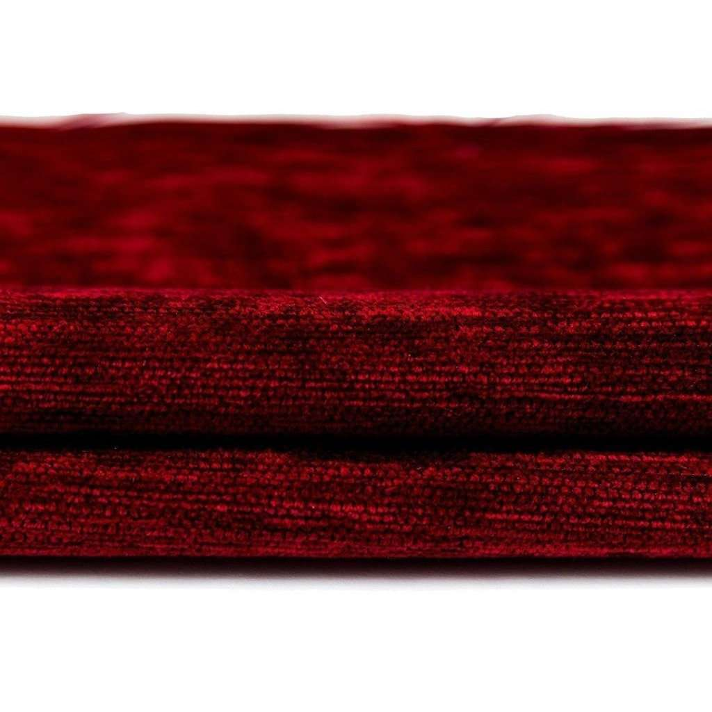 McAlister Textiles Plain Chenille Red Fabric Fabrics