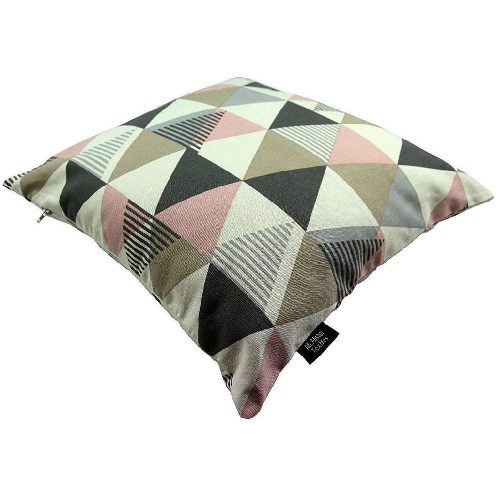 McAlister Textiles Geometric Blush Pink Cushion 43cm x 43cm Set of 3 Cushions and Covers