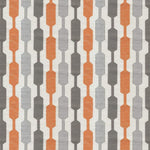 Cargar imagen en el visor de la galería, McAlister Textiles Lotta Burnt Orange + Grey Draught Excluder Draught Excluders