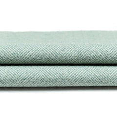 McAlister Textiles Herringbone Woven Wool Feel Duck Egg Blue Fabric-Fabrics-