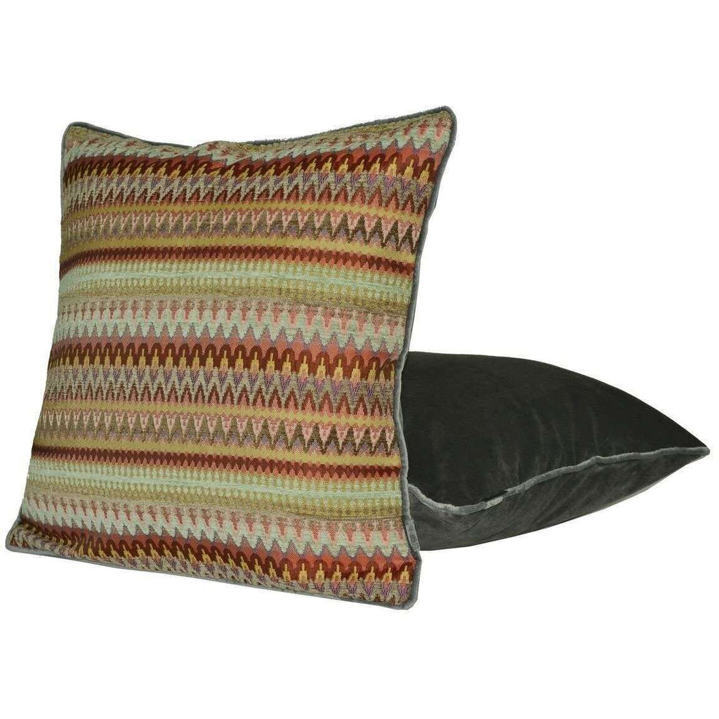 McAlister Textiles Curitiba Aztec Red + Purple Aztec Cushion Cushions and Covers