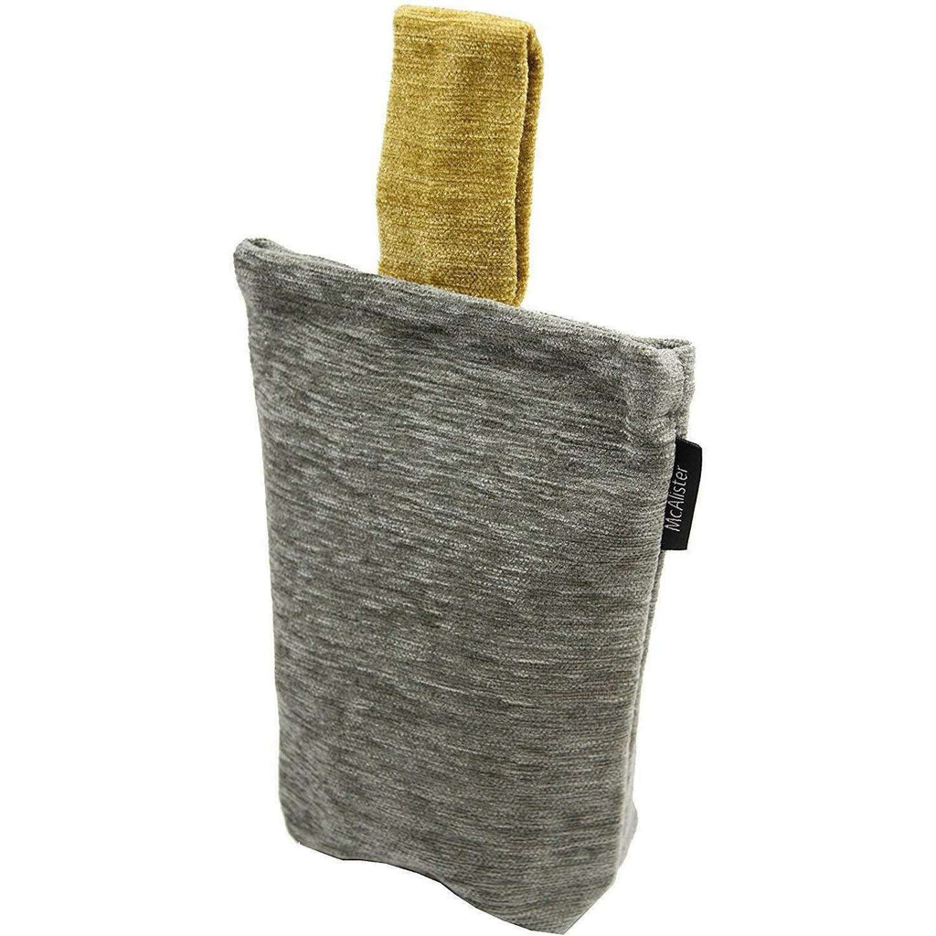 McAlister Textiles Alston Chenille Grey + Yellow Door Stop Doorstops