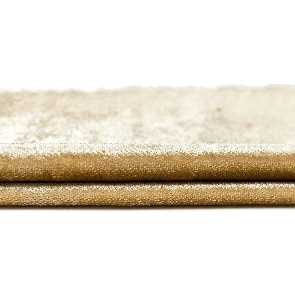 McAlister Textiles Crushed Velvet Champagne Gold Fabric Fabrics