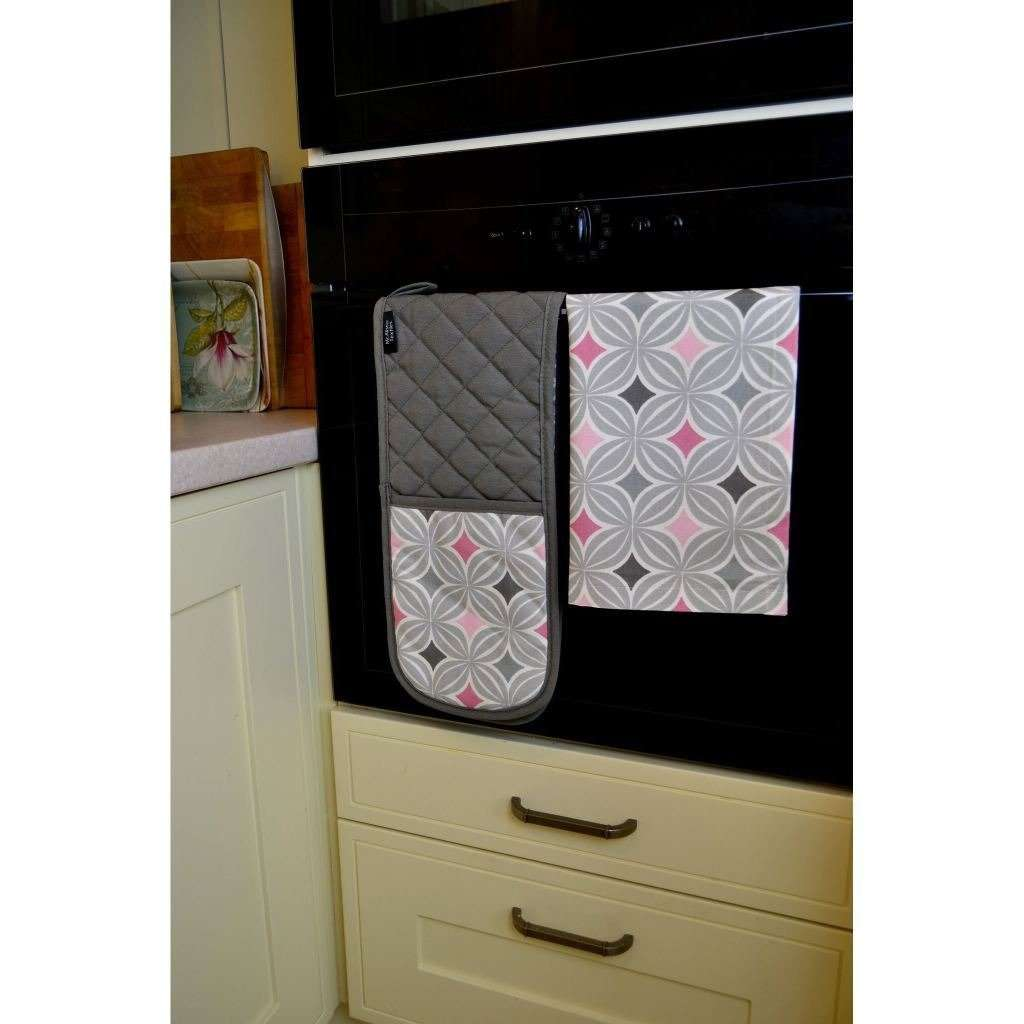 McAlister Textiles Laila Pink Cotton Tea Towel Set Kitchen Accessories